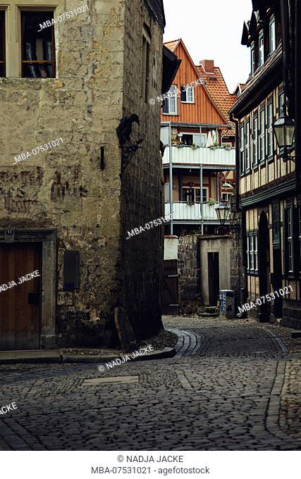Walk through Quedlinburg in August