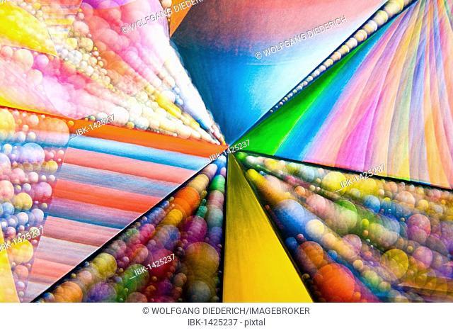 Acrylic painting on the origin of primary matter, blurred, artist Gerhard Kraus, Kriftel