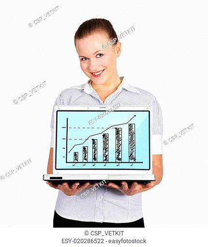 woman holding notebook with chart