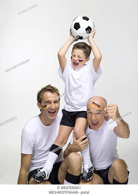 German soccer fans, portrait