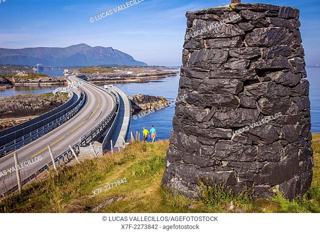 Landscape, in Atlantic Road or Atlanterhavsveien, from Bud to Kristiansund, More og Romsdal, Norway