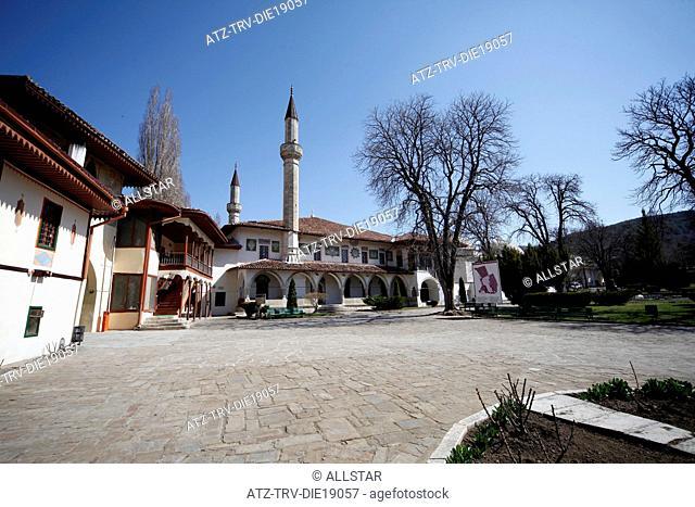 GREAT MOSQUE, HANSARAY, KHAN'S PALACE; BAKHCHISARAY, CRIMEA, UKRAINE; 04/04/2012