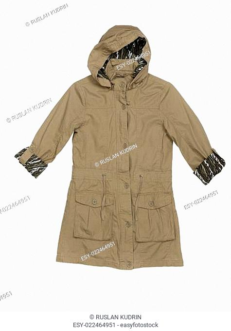 Fashionable women's jacket with a hood
