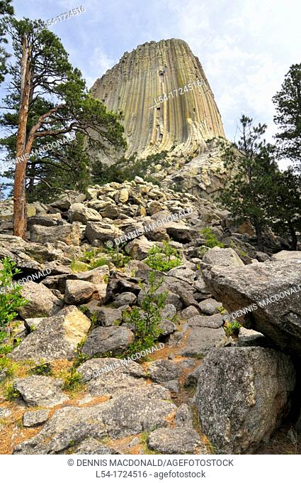Devil's Tower National Monument Wyoming WY igneous intrusion laccolith
