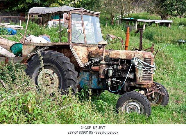 Old neglected tractor