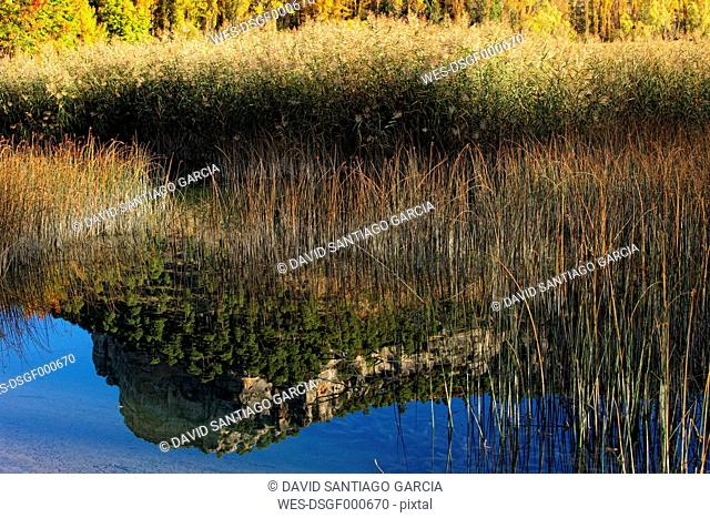 Spain, Cuenca, Lagoons of Jucar river near Una village