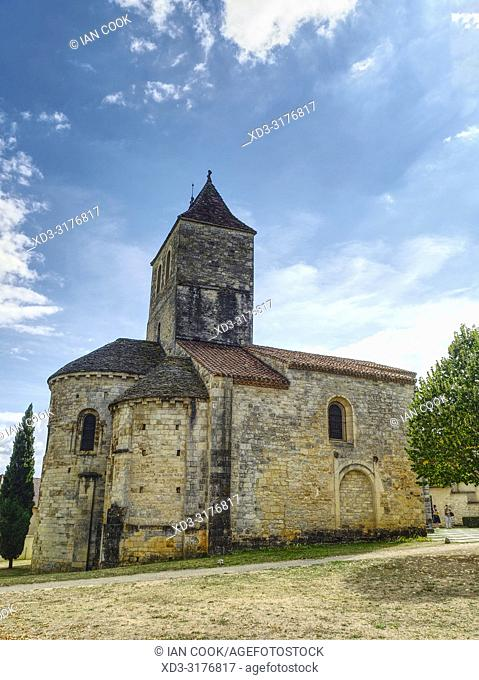 old stone church, Lot Department, Occitanie, France