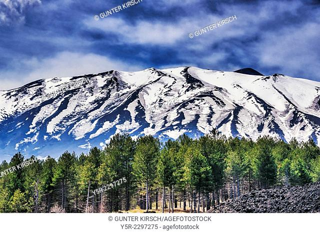 The Mount Etna is with 3323 meters Europe's highest and most active volcano. It is located on the Italian island of Sicily near Catania and Messina