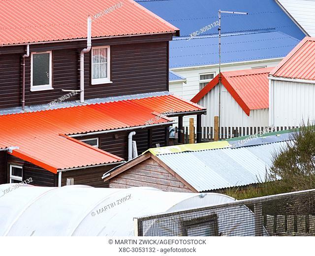 Stanley, capital of the Falkland Islands. South America, Falkland Islands, November