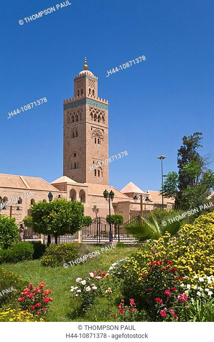 Koutoubia mosque and minaret, Marrakech, Morocco