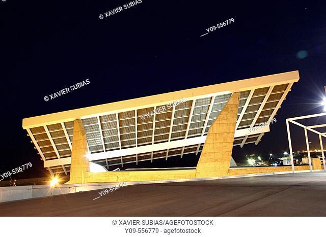 Photovoltaic pergola. Forum. Barcelona. Spain