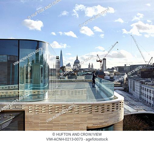 Rooftop with view of City of London and St Paul's. Turnmill Building, London, United Kingdom. Architect: Piercy & Company, 2015