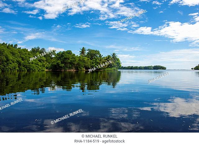 Utwe lagoon, UNESCO Biosphere Reserve, Kosrae, Federated States of Micronesia, South Pacific