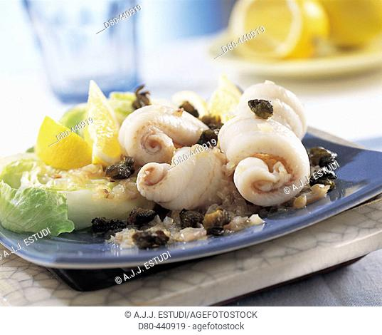 Fillets of sole with capers