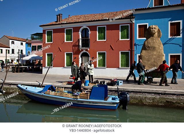 Mobile shop, Burano Island, Venice, Italy