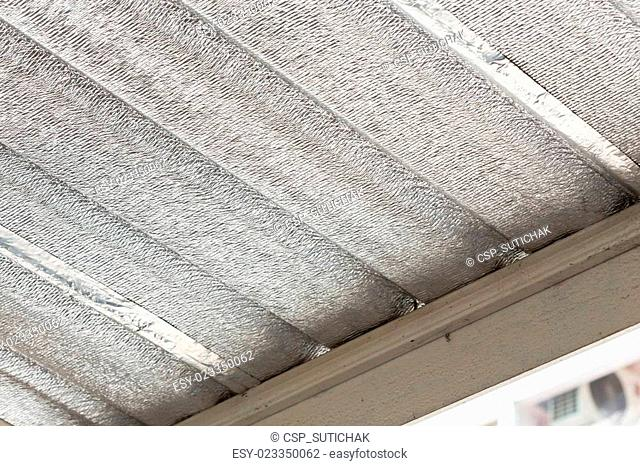 silver foil insulation on ceiling roof house
