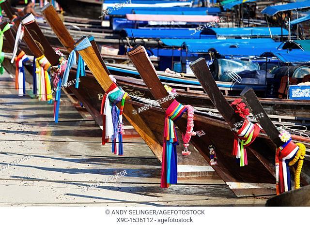 Long-Tail Boats on Ko Phi-Phi Island, Thailand