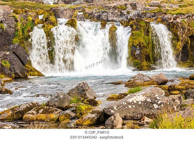 Part of Dynjandi waterfall - Iceland