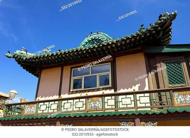 Building in Gandantegchenling Monastery, Ulan Bator, Mongolia