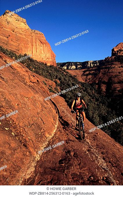 Cheryle Mountain bikes White Line Fever, Coconino National Forest, Sedona, Arizona