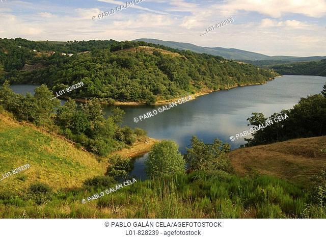 Bao Reservoir, Viana do Bolo, Ourense province, Galicia, Spain