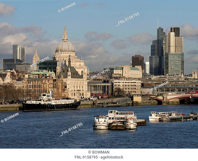 Cityscape of London with St. Pauls Cathedral, UK