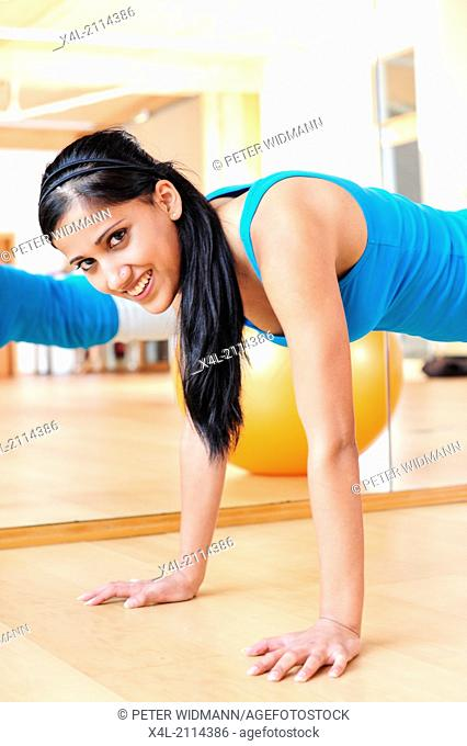 young, pretty, sportive woman (model-released)
