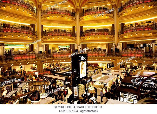 Galeries Lafayette department store  Paris, France