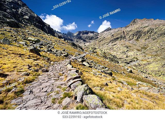 Laguna Grande road. Sierra de Gredos. Avila. Castilla Leon. Spain. Europe