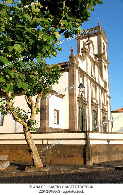 Church in Rabo de Peixe Sao Miguel island Azores Portugal