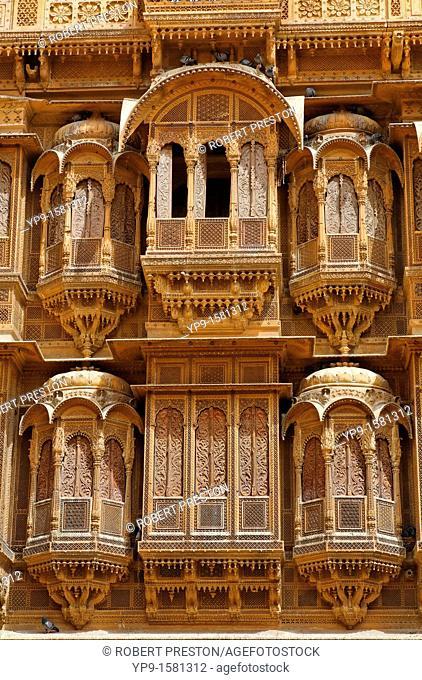 Haveli inside Jaisalmer Fort, Jaisalmer, Rajasthan, India