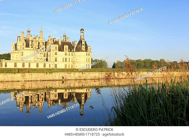 France, Indre et Loire, Loire Valley, listed as World Heritage by UNESCO, Chambord castle