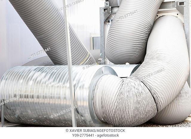 Ventilation and cooling pipes