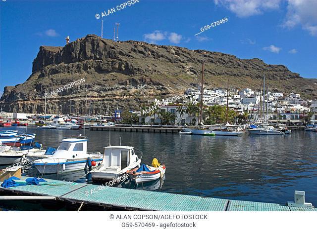 Europe. Spain. Canary Islands. Gran Canaria. Puerto de Mogan.