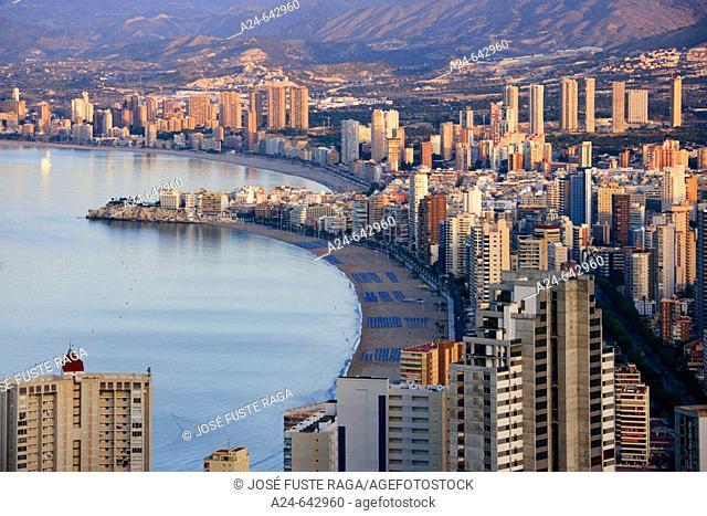 Benidorm City. Costa Blanca. Alicante province. Spain. May 2007