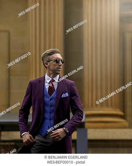 Portrait of fashion blogger Steve Tilbrook