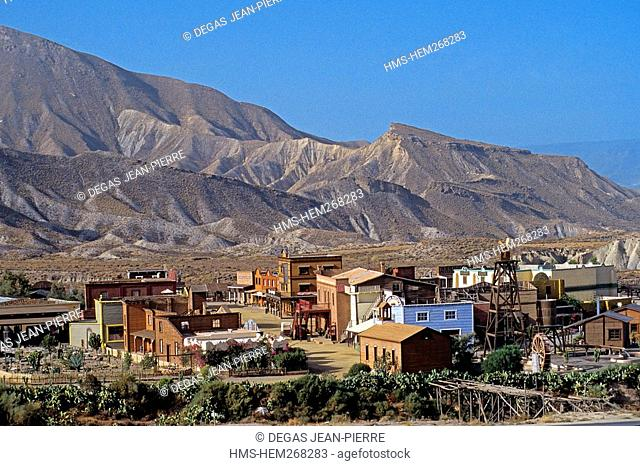 Spain, Andalusia, Almeria Province, Tabernas Desert, Mini-Hollywood, a village of the West entirely built for the movie Once Upon a Time in the West