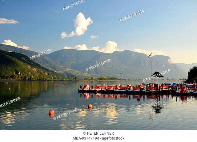 Italy, South Tirol, Kaltern (village), Kalterersee