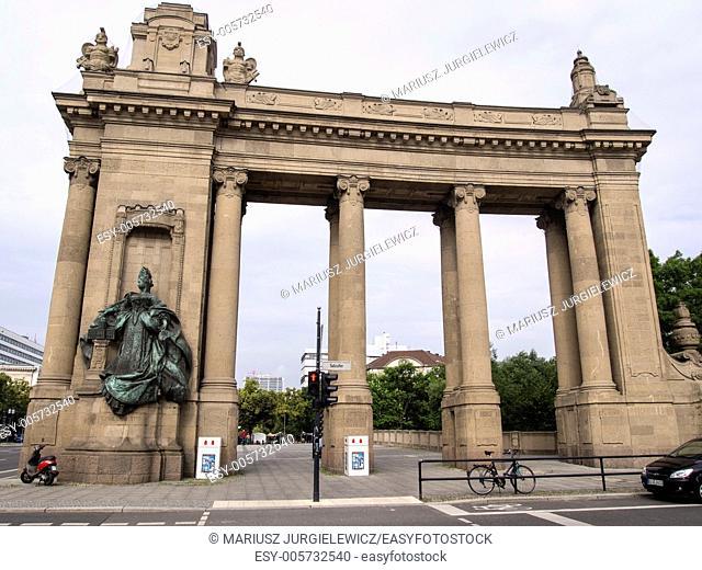 Charlottenburg Gate with Charlottenburg Bridge is a Neo-Baroque building in the Charlottenburg district of Berlin