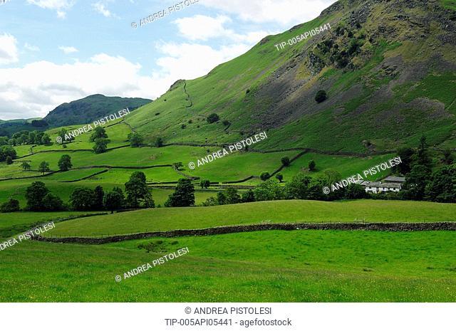 UK, England, Cumbria, Lake District landscapes in Grasmere area