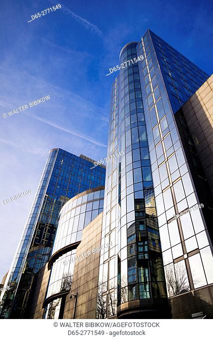 Belgium, Brussels, EU Area, office building by the EU Parliament