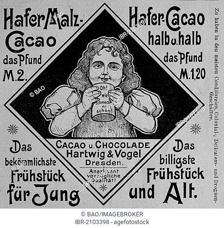 Advertisement, published in the magazine Gartenlaube in 1890
