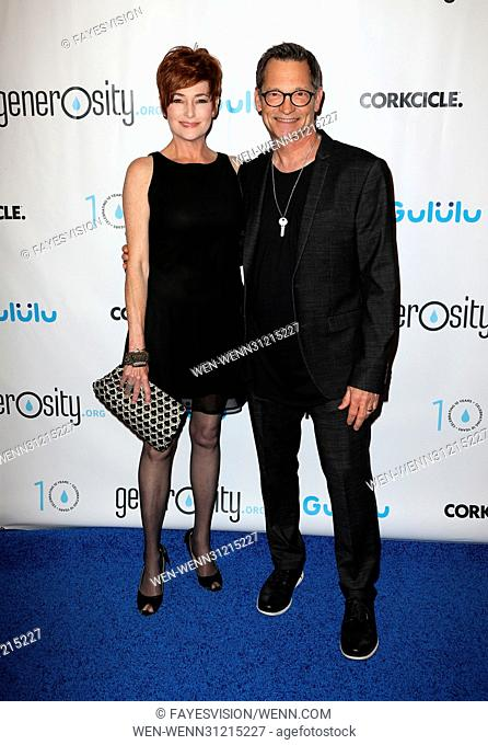 Generosity.org Fundraiser For World Water Day Featuring: Carolyn Hennesy, Philip Wagner Where: Beverly Hills, California