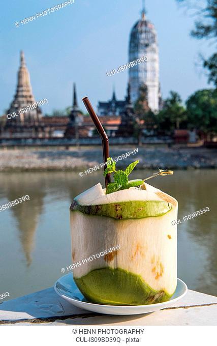 Coconut juice, Phra Nakhon Si Ayutthaya, Bangkok