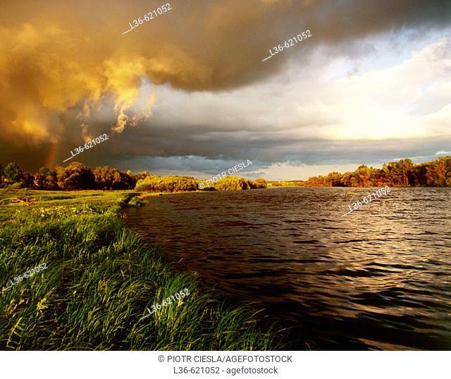 Bug river in the villiage of Mielnik, Eastern Poland