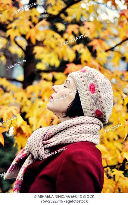 Woman enjoying life
