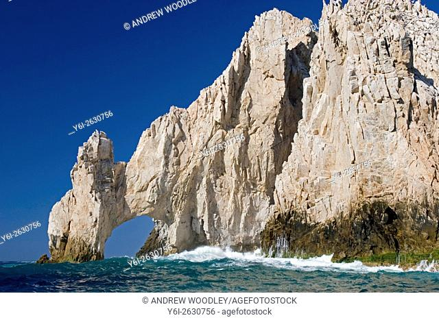 El Arco rock arch or Lands End at tip of California Baja Sur peninsula Cabo San Lucas Mexico