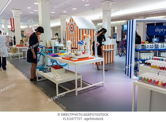 Paris, France, Luxury Fashion Brands Shopping in French Department Stoe, Au Bon Marché