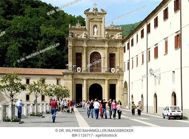 Entrance to the convent church, San Francesco di Paola, Calabria, Italy, Europe