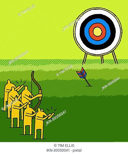 Men shooting at target